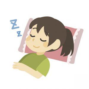 完全に寝る