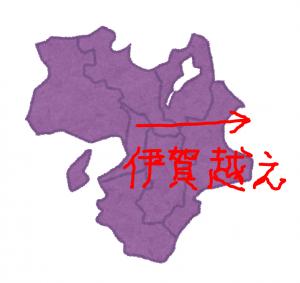 地図(伊賀越えルート)