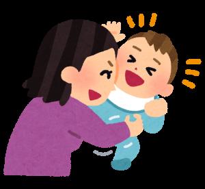 赤ちゃんをくすぐる母親