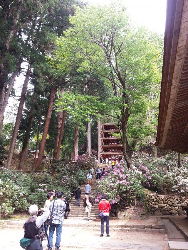 五重塔の階段下