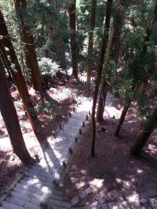奥の院の階段
